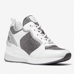 Michael Kors Crista Mixed-Media Trainer Sneakers
